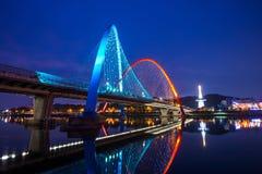 Expo Bridge in Daejeon, Korea. Royalty Free Stock Photos