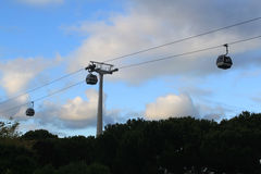 Expo 98 cable-car in Lisbon Royalty Free Stock Photos