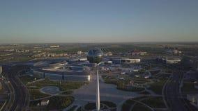 EXPO compleja Astaná de los edificios almacen de video
