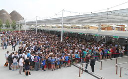 Expo 2015 Crowd Stock Images