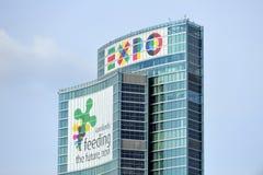 2015 EXPO de Milan - gratte-ciel de région de la Lombardie nouveau Image stock