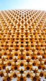 Expo di legno 2015 del mondo della facciata del padiglione del Giappone immagine stock