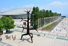 Expo district in Lisbon. Urban modern contemporary design architecture district. stock photo