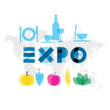 Expo 2015 event illustration Stock Photography