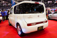 Expo för Nissan Cube Car On Thailand Internationalmotor royaltyfri foto