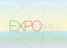 Expo. Fair italy 2015 fantasy graphic elaboration royalty free illustration