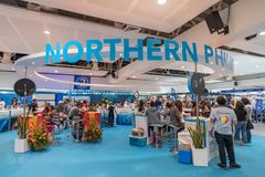 Expo Filipinas del viaje del centro turístico de sept 9,2017 DRTDiving en el SM mega Imagen de archivo