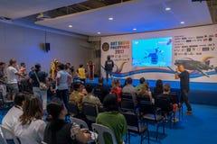 Expo Filipinas del viaje del centro turístico de sept 9,2017 DRTDiving en el SM mega Imágenes de archivo libres de regalías