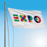 Expo 2015 flag. Vector file editorial, expo 2015 flag Stock Photography