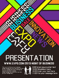 Expo flyer annual event advresting poster. For web Royalty Free Stock Photos