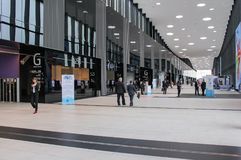 Modern Hall Expo Forum. Expo Forum venue of the St. Petersburg Gas Forum Royalty Free Stock Photo