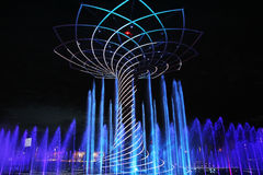 Expo fountain show Royalty Free Stock Images