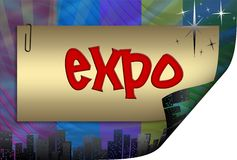 Expo in frame, illustration Royalty Free Stock Images