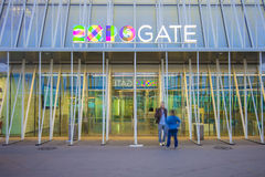 Expo Gate 2015 in Milan, Italy. Stock Image