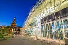 Expo Gate 2015 in Milan, Italy. Stock Photos
