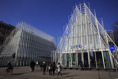 EXPO gate in Milano 2015 Royalty Free Stock Photo