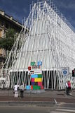 Expo Gate. Structure in Piazza Castello in Milan, Italy Royalty Free Stock Photos