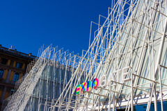 EXPO GATE - Temporary structure in the center of Milan - Italy Royalty Free Stock Photo