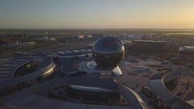 EXPO-gebied in Astana op de achtergrond stock footage