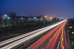 EXPO highway at night Stock Photo