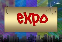 Expo, illustration Royalty Free Stock Photo