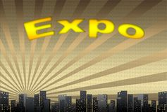 Expo, illustration Stock Photography