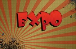 Expo, illustration Stock Photo