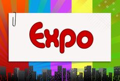 Expo, illustration Royalty Free Stock Photography