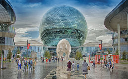Expo internazionale 2017 di Astana di mostra Fotografia Stock Libera da Diritti