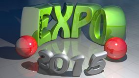 Expo Italia 2015 ilustración del vector