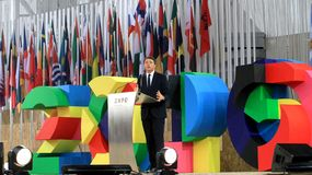 Expo 2015: Italian Premier Matteo Renzi Stock Photos