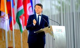 Expo 2015: Italian Premier Mattep Renzi Stock Photography