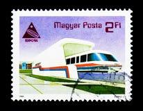 EXPO '85, Japan - snabb järnväg, händelseserie, circa 1985 Arkivbilder