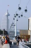 Expo in Lisbon. Vasco da Gama tower in Lisbon Stock Images