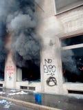Expo 2015: lojas destruídas em Milão Imagens de Stock