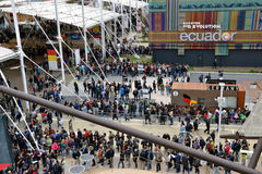 EXPO miejsce 2015 Mediolański Włochy Obraz Stock
