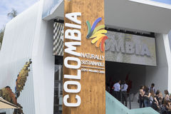 Expo Milan Colombia Pavilion 2015 Arkivfoto