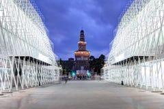 Expo2015 Milan, Italien Fotografering för Bildbyråer
