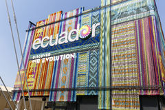 Expo 2015 Milan - Italy. Milan, Italy, 12 August 2015: Detail of the Equador pavilion at the exhibition Expo 2015 Italy Stock Photo
