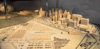 Plastic model of a modern city Stock Images
