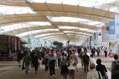 EXPO 2015, Milan, Italy, Wrzesień 2015, decumano ulica Obraz Stock