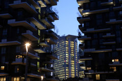 Expo2015 milan,milan,bosco verticale Royalty Free Stock Photography
