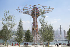 Expo 2015 Milan tree of Life Royalty Free Stock Images