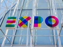Expo Milano 2015 flags Stock Photography