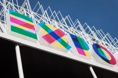 Expo Milano 2015 logo in Milan, Italy Stock Photos