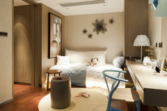 Expo modelo Pekín de los muebles de Bedroom imágenes de archivo libres de regalías