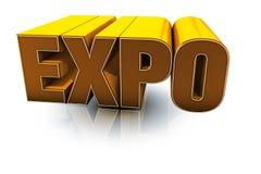 Expo orange. 3d ilustration, Expo orange text Royalty Free Stock Image