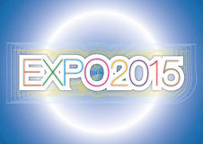 Expo 2015. Original and fantasy graphic elaboration expo 2015 fair italy Stock Photos