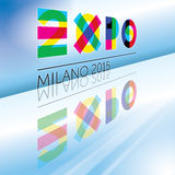 Expo 2015. Original graphic elaboration expo 2015 stock photo
