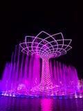 Expo 2015 på Milan, trädet av liv arkivfoton